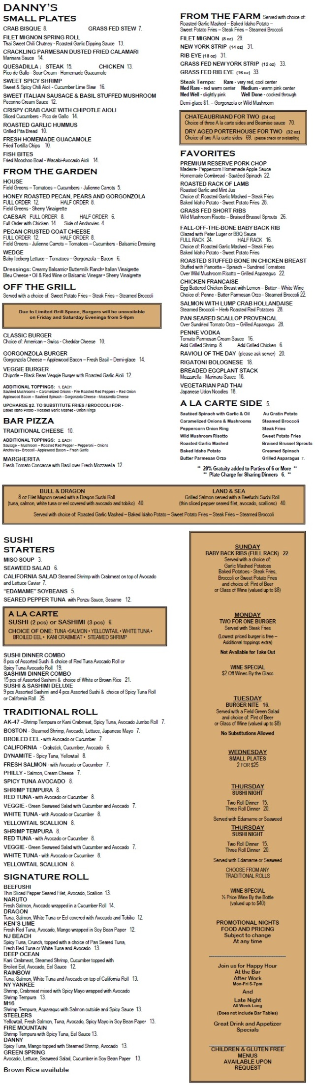 Our New Fall Menu
